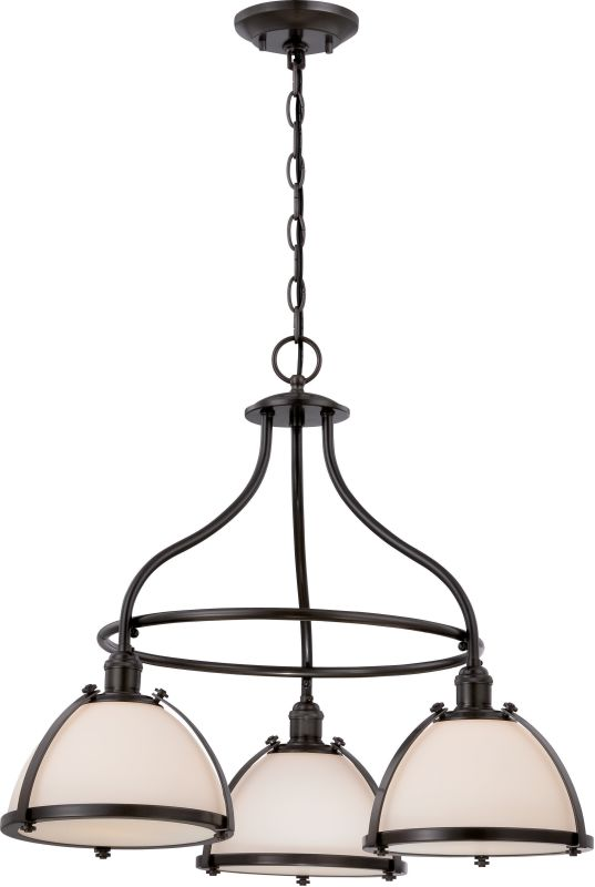 Nuvo Lighting 60/5533 Sagamore 3 Light 1 Tier Chandelier in Aged