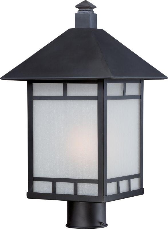 Nuvo Lighting 60/5605 Drexel 1 Light Outdoor Post Light Stone Black