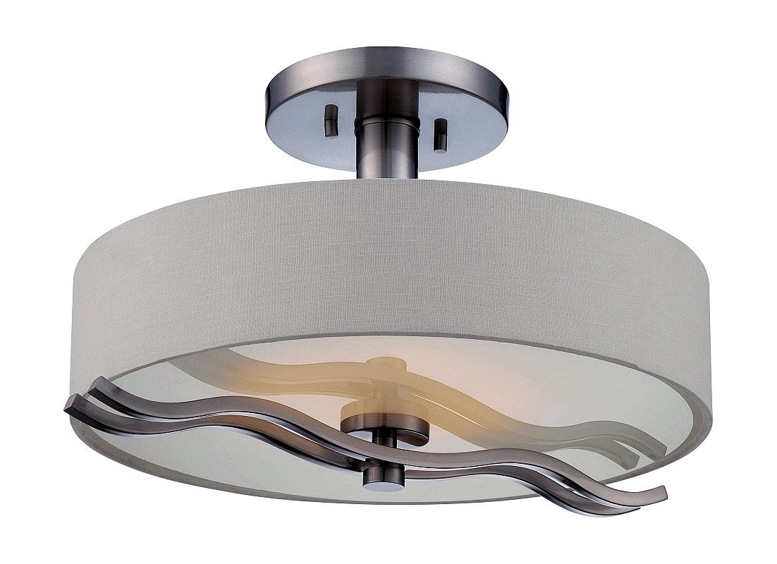 Nuvo Lighting 62/118 Wave 1 Light LED Semi-Flush Ceiling Fixture Sale $199.99 ITEM: bci2613718 ID#:62/118 UPC: 45923321184 :