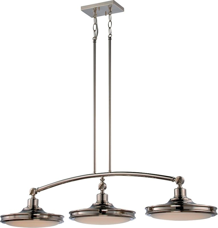 Nuvo Lighting 62/168 Houston 3 Light LED Pendant Polished Nickel