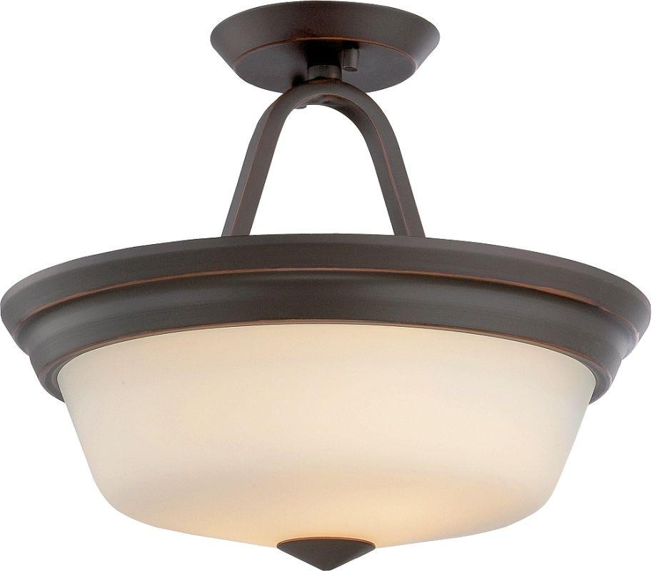 Nuvo Lighting 62/374 Calvin 2 Light LED Semi-Flush Ceiling Fixture Sale $109.99 ITEM: bci2613839 ID#:62/374 UPC: 45923323744 :