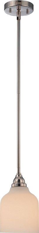 Nuvo Lighting 62/382 Kirk 1 Light LED Pendant Polished Nickel Indoor