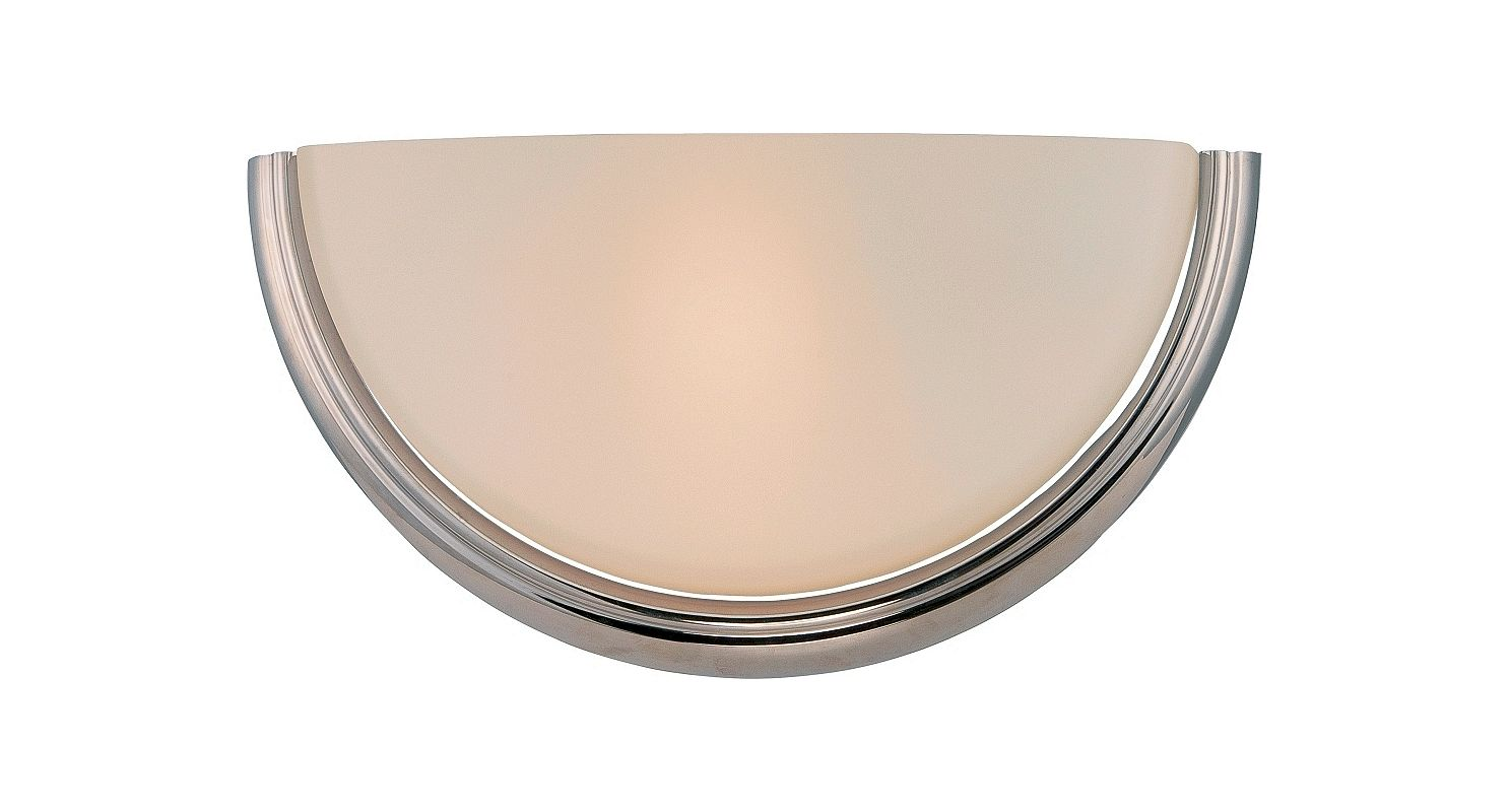Nuvo Lighting 62/401 Dylan 1 Light LED Bathroom Sconce Polished Nickel