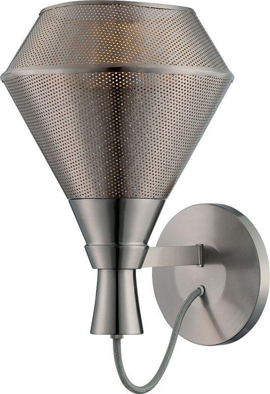 Nuvo Lighting 62/475 Jake 1 Light LED Bathroom Sconce Satin Steel