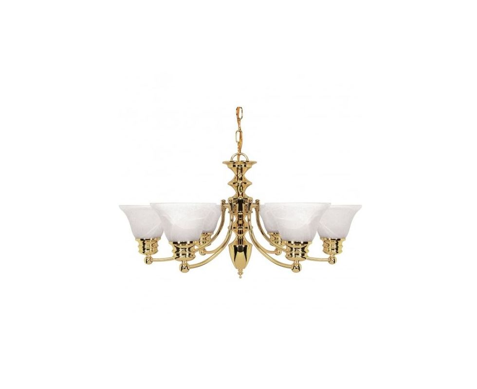 Nuvo Lighting 60/357 Six Light Up Lighting Chandelier from the Empire