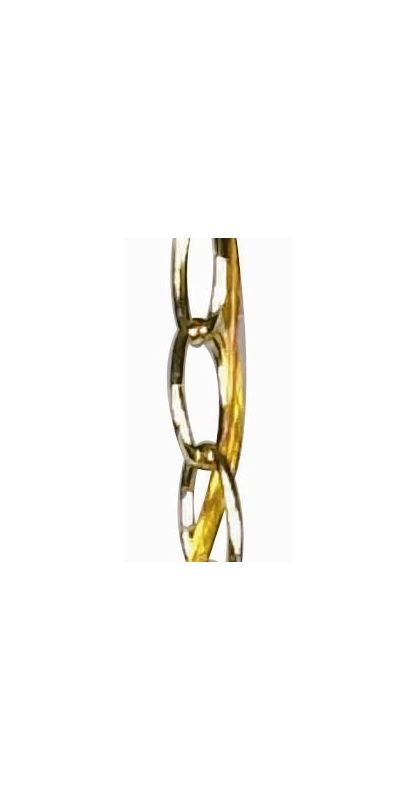 "Nuvo Lighting 25/1066 36"" Section of Chain Polished Brass Accessory"