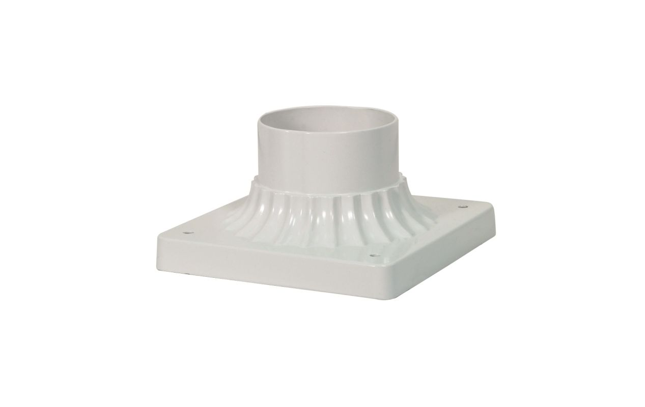 Nuvo Lighting 25/1205 Square Pier Mount Base White Outdoor Lighting
