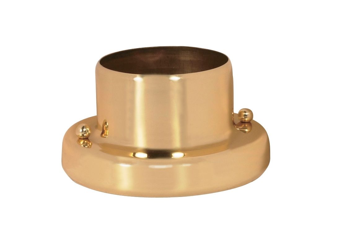 Nuvo Lighting 25/1207 Round Pier Mount Base Polished Brass Outdoor