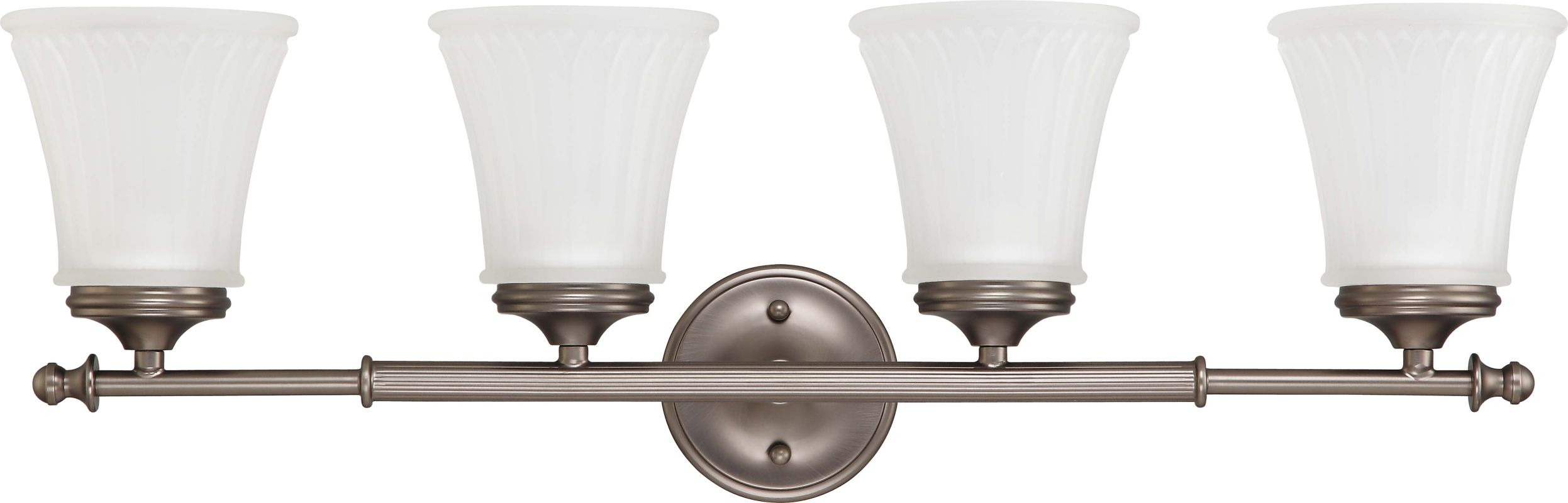 Nuvo Lighting 60/4014 Teller Four Light Bathroom Fixture with Frosted
