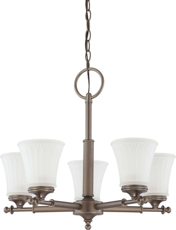 Nuvo Lighting 60/4015 Teller Five Light Chandelier with Frosted Etched