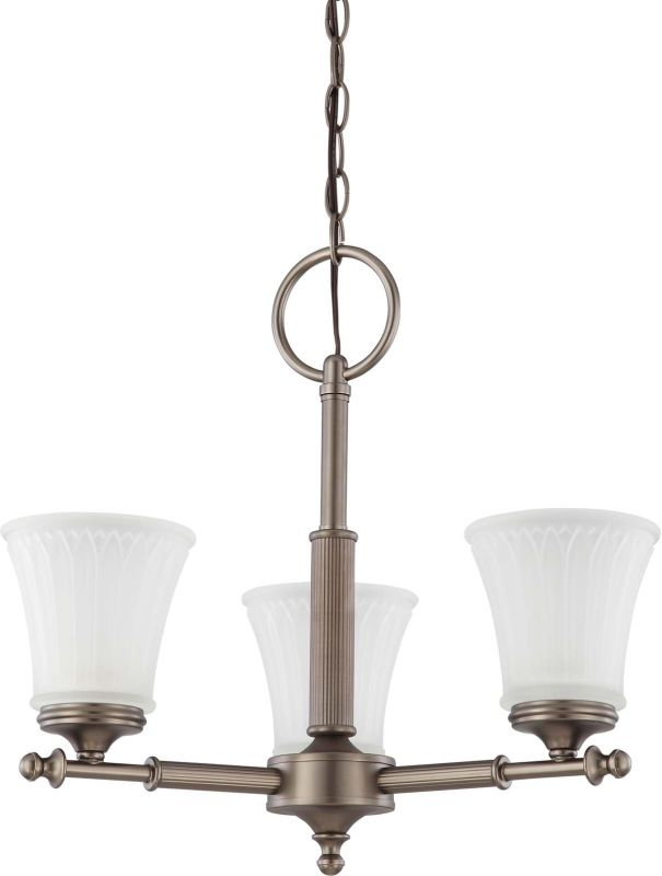 Nuvo Lighting 60/4016 Teller Three Light Chandelier with Frosted