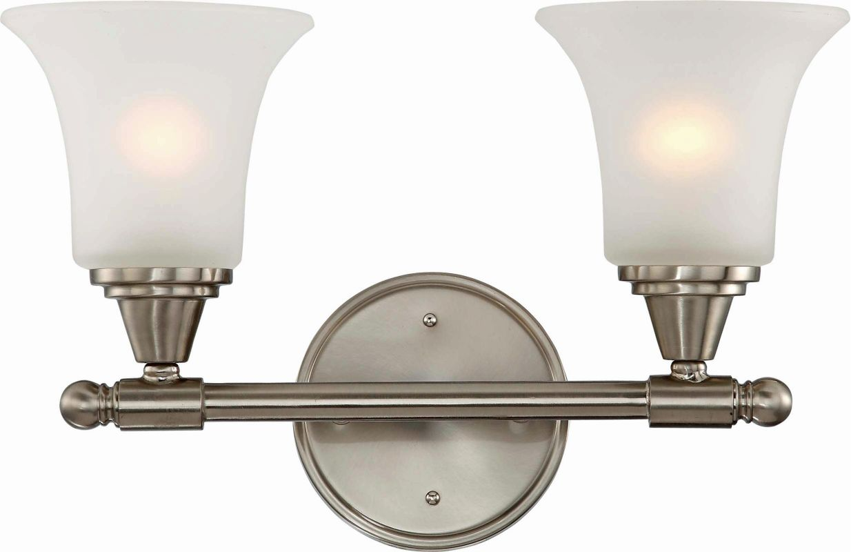 Nuvo Lighting 60/4142 Surrey Two Light Bathroom Fixture with Frosted