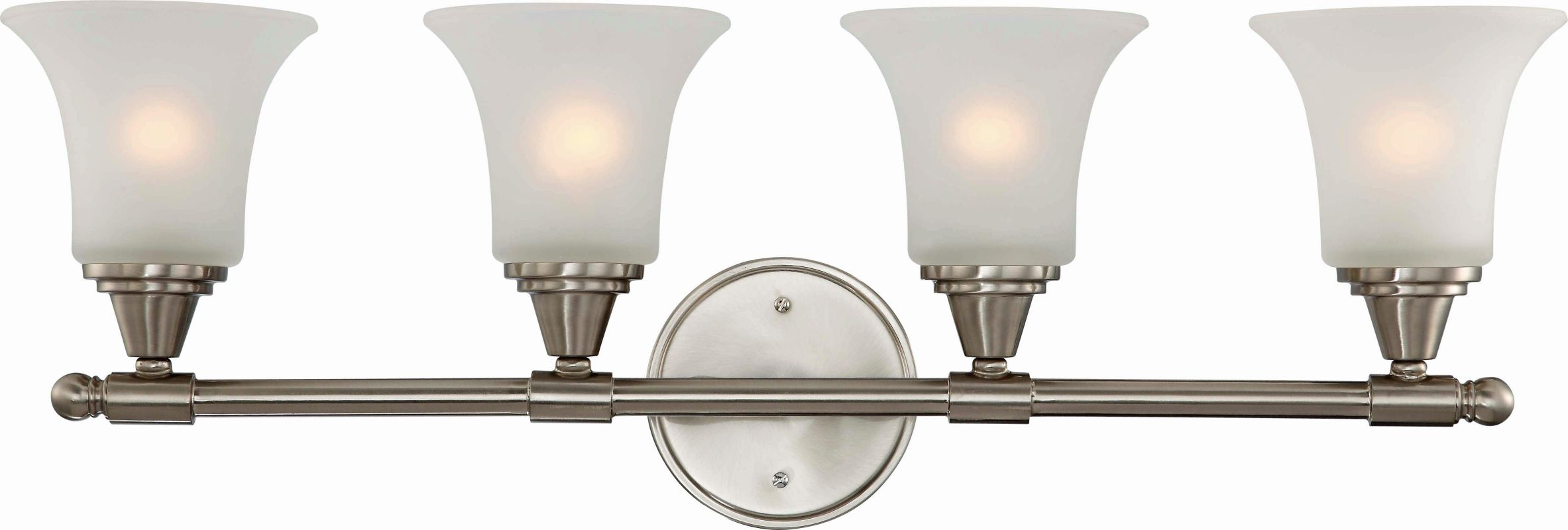 Nuvo Lighting 60/4144 Surrey Four Light Bathroom Fixture with Frosted