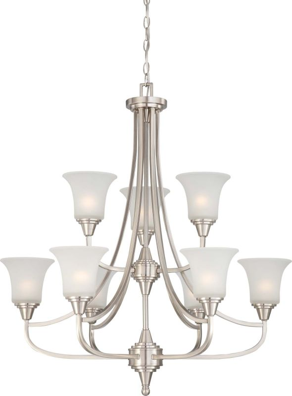Nuvo Lighting 60/4149 Surrey Nine Light Two Tier Chandelier with
