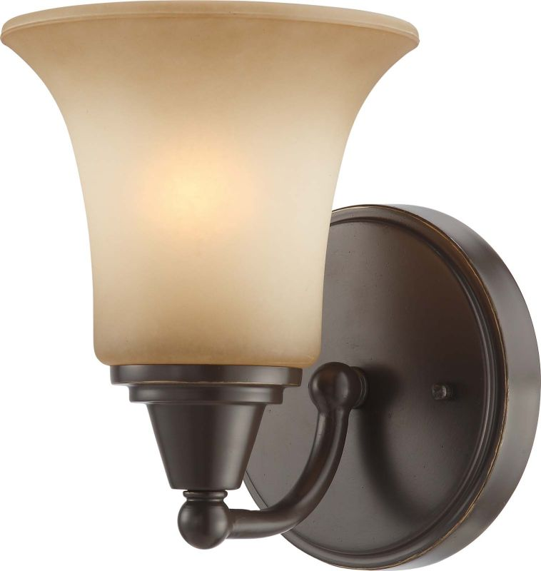Nuvo Lighting 60/4161 Surrey Single Light Bathroom Fixture with Auburn