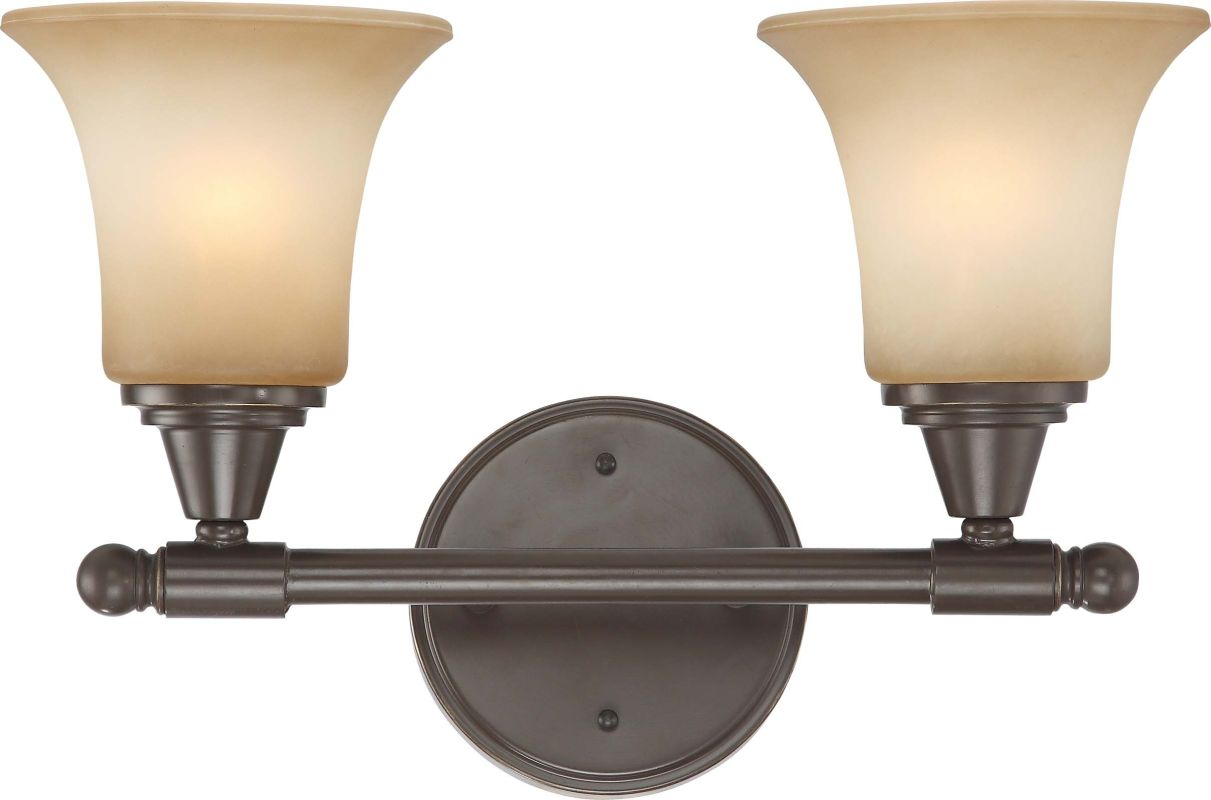 Nuvo Lighting 60/4162 Surrey Two Light Bathroom Fixture with Auburn