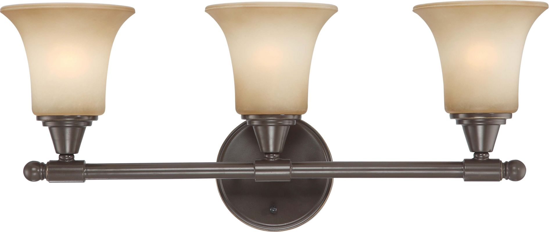 Nuvo Lighting 60/4163 Surrey Three Light Bathroom Fixture with Auburn