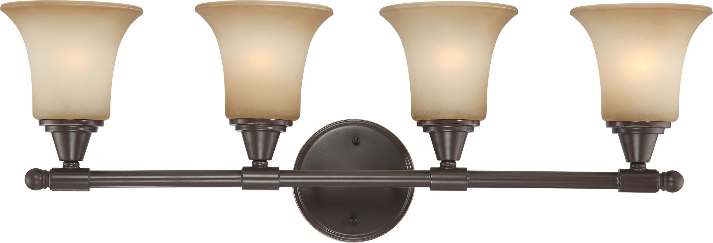 Nuvo Lighting 60/4164 Surrey Four Light Bathroom Fixture with Auburn