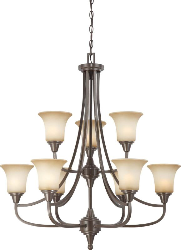 Nuvo Lighting 60/4169 Surrey Nine Light Two Tier Chandelier with