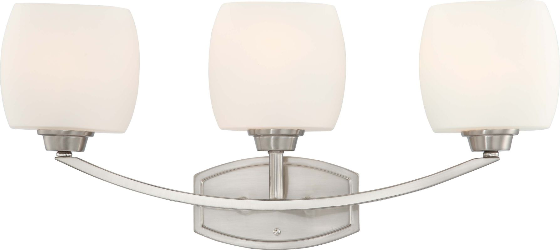 Nuvo Lighting 60/4183 Helium Three Light Bathroom Fixture with Satin