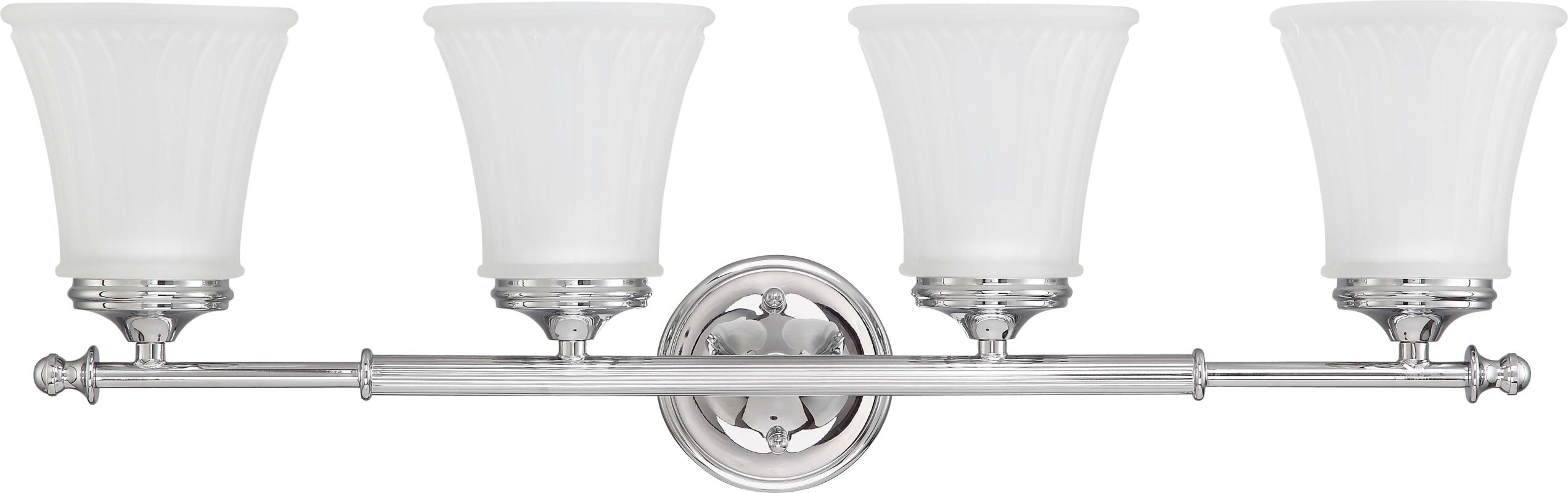 Nuvo Lighting 60/4264 Teller Four Light Bathroom Fixture with Frosted