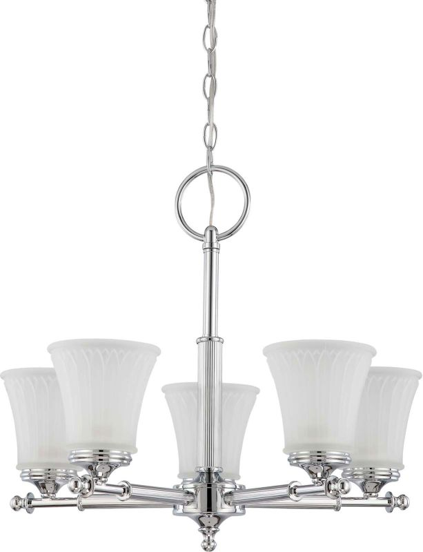 Nuvo Lighting 60/4265 Teller Five Light Chandelier with Frosted Etched
