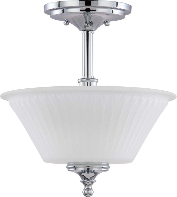 Nuvo Lighting 60/4268 Teller 2 Light Semi-Flush Indoor Ceiling Fixture