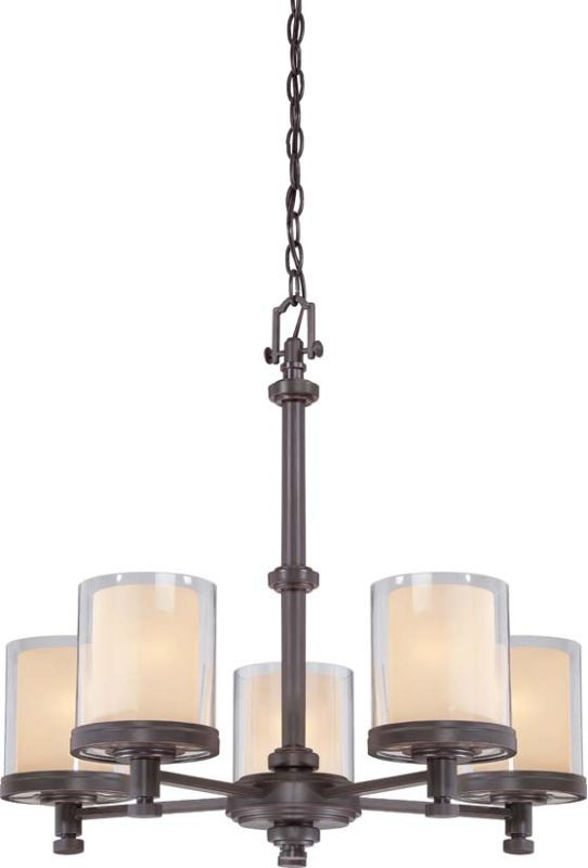 Nuvo Lighting 60/4545 Decker Five Light Chandelier with Clear and
