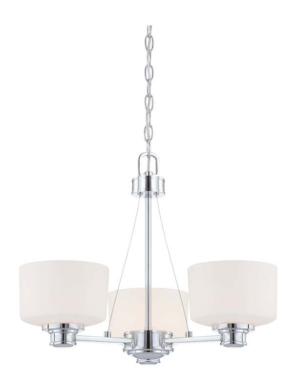 Nuvo Lighting 60/4587 Soho Three Light Chandelier with Satin White Sale $183.99 ITEM: bci1949144 ID#:60/4587 UPC: 45923645877 :