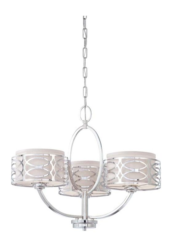 Nuvo Lighting 60/4624 Harlow Three Light Chandelier with Slate Gray