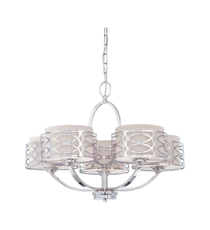 Nuvo Lighting 60/4625 Harlow Five Light Chandelier with Slate Gray