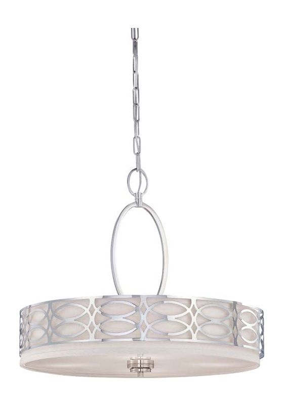 Nuvo Lighting 60/4626 Harlow Four Light Pendant with Slate Gray Fabric