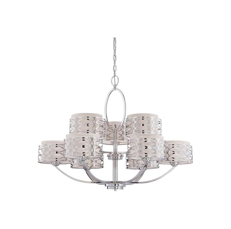 Nuvo Lighting 60/4630 Harlow Nine Light Chandelier with Slate Gray