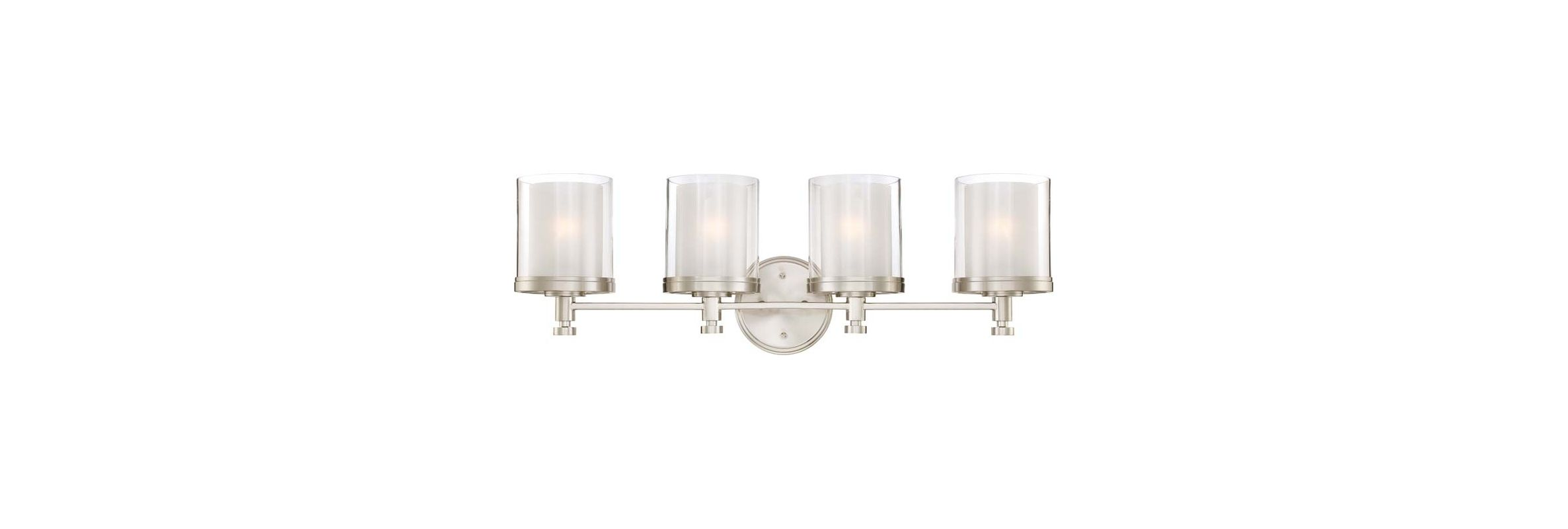 Nuvo Lighting 60/4644 Decker Four Light Bathroom Fixture with Clear