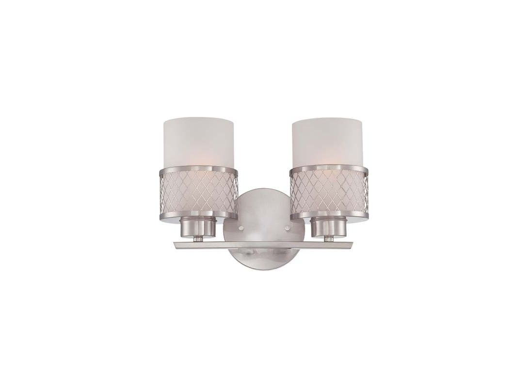 Nuvo Lighting 60/4682 Fusion Two Light Bathroom Fixture with Frosted