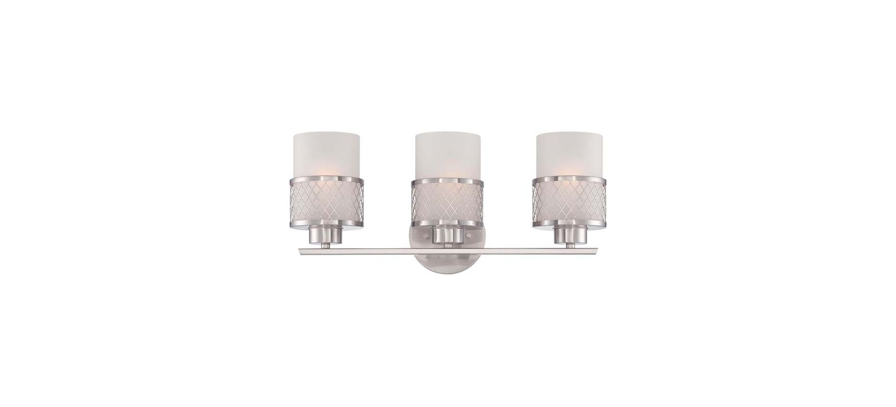 Nuvo Lighting 60/4683 Fusion Three Light Bathroom Fixture with Frosted
