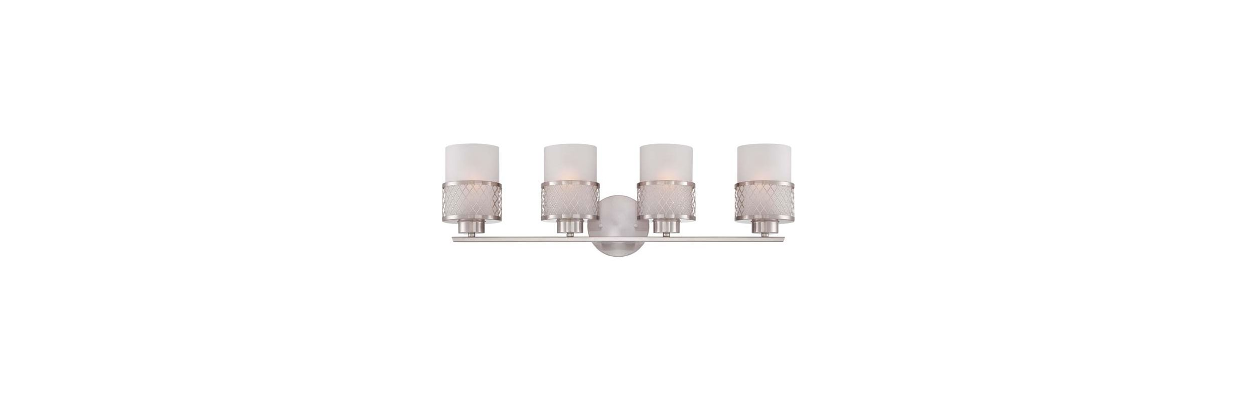 Nuvo Lighting 60/4684 Fusion Four Light Bathroom Fixture with Frosted Sale $215.99 ITEM: bci1949198 ID#:60/4684 UPC: 45923646843 :