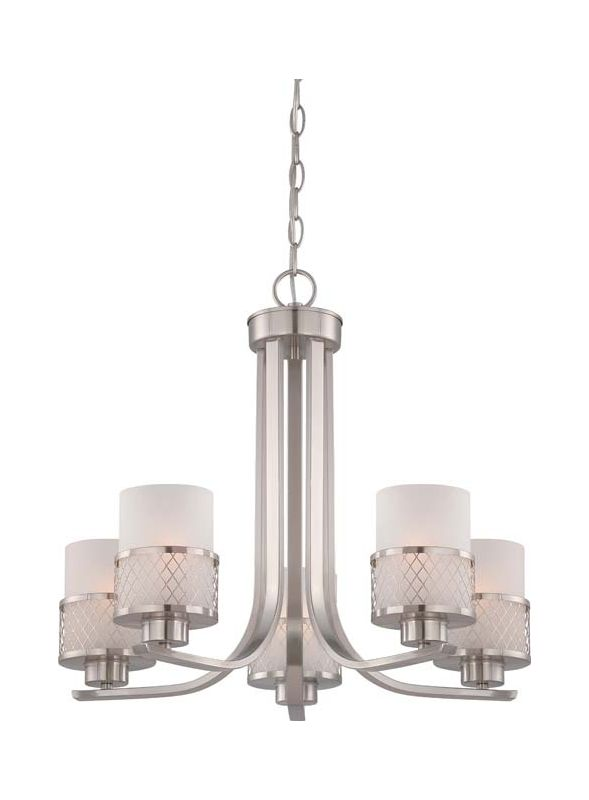 Nuvo Lighting 60/4685 Fusion Five Light Chandelier with Frosted Glass Sale $359.99 ITEM: bci1949199 ID#:60/4685 UPC: 45923646850 :
