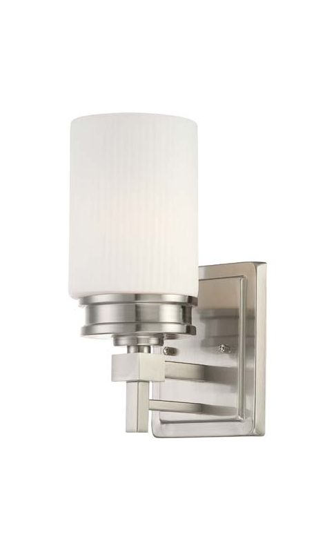 Nuvo Lighting 60/4701 Wright Single Light Bathroom Fixture with Satin