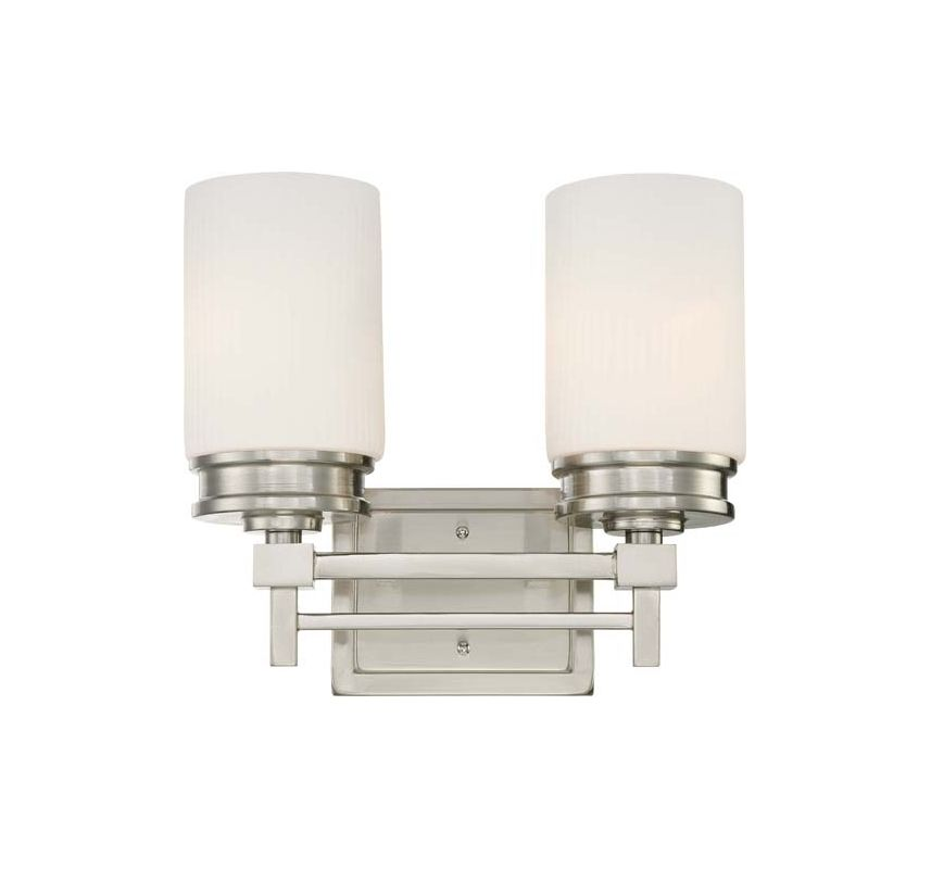 Nuvo Lighting 60/4702 Wright Two Light Bathroom Fixture with Satin
