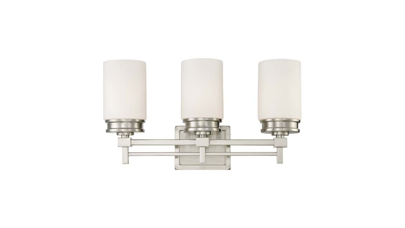 Nuvo Lighting 60/4703 Wright Three Light Bathroom Fixture with Satin