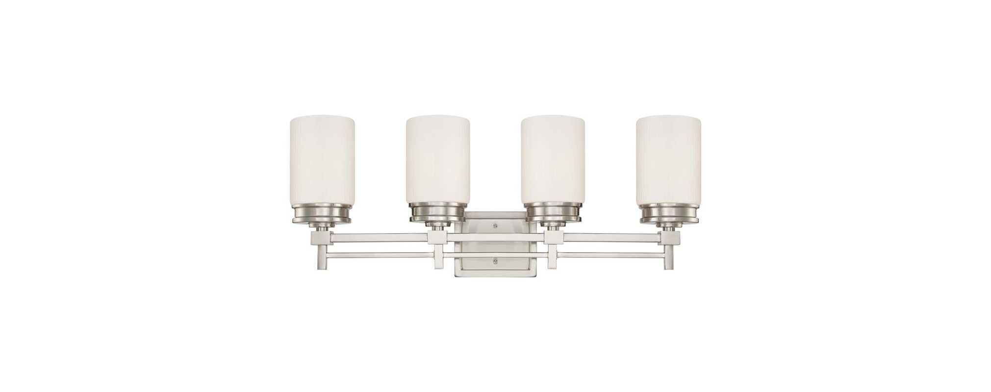 Nuvo Lighting 60/4704 Wright Four Light Bathroom Fixture with Satin