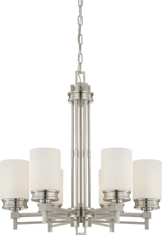 Nuvo Lighting 60/4705 Wright Six Light Chandelier with Satin White Sale $439.99 ITEM: bci1949210 ID#:60/4705 UPC: 45923647055 :