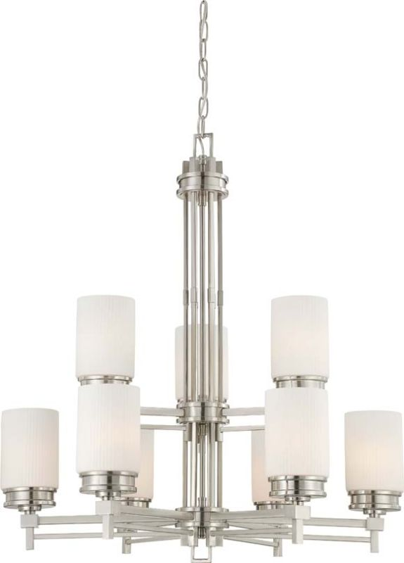 Nuvo Lighting 60/4709 Wright Nine Light Chandelier with Satin White