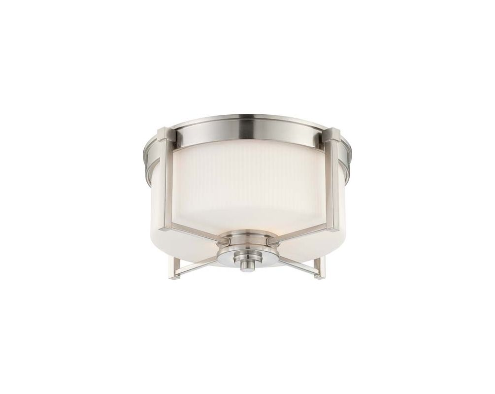 Nuvo Lighting 60/4711 Wright 2 Light Flush Mount Indoor Ceiling Sale $153.99 ITEM: bci1949215 ID#:60/4711 UPC: 45923647116 :