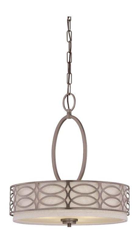 Nuvo Lighting 60/4720 Harlow Three Light Pendant with Khaki Fabric