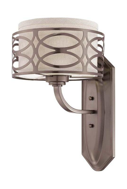 Nuvo Lighting 60/4721 Harlow Single Light Bathroom Fixture with Khaki