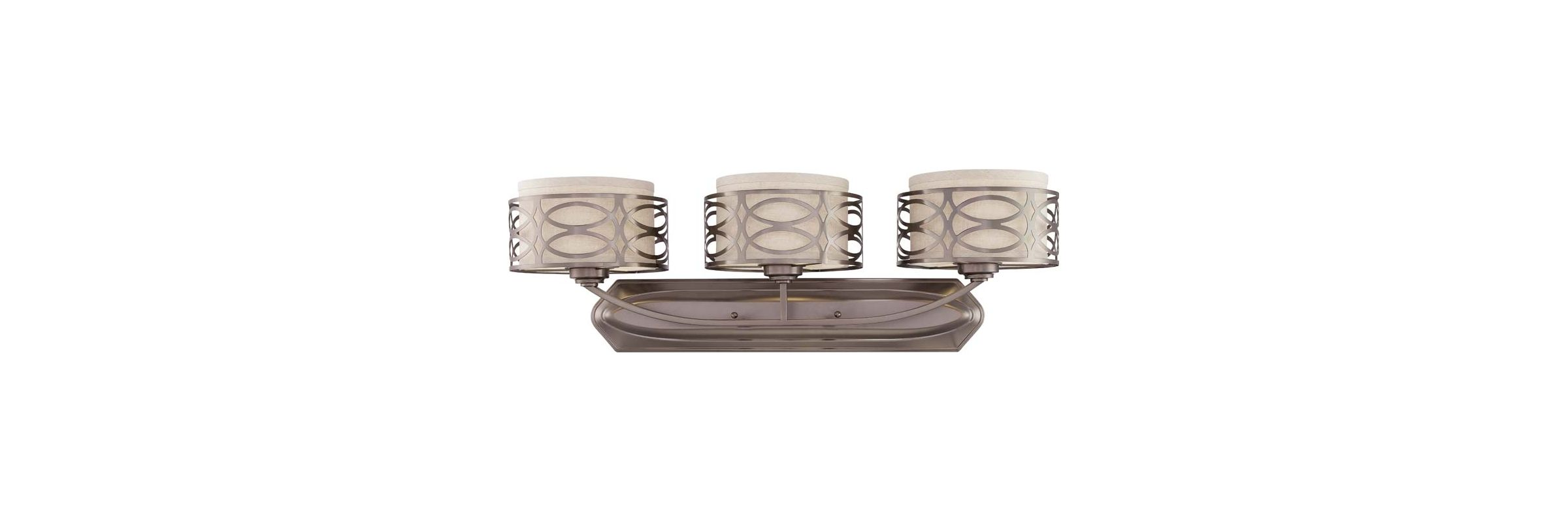 Nuvo Lighting 60/4723 Harlow Three Light Bathroom Fixture with Khaki