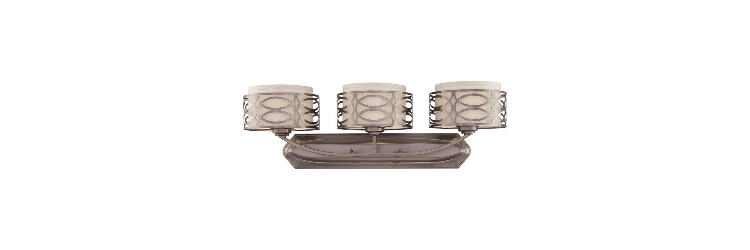 Nuvo Lighting 60/4723 Harlow Three Light Bathroom Fixture with Khaki