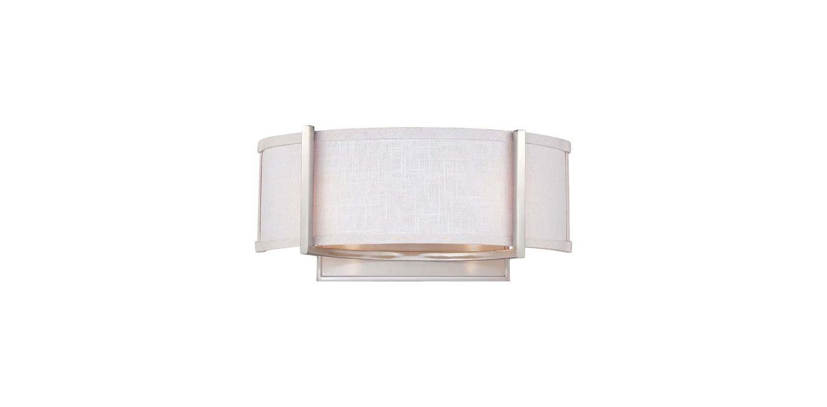 Nuvo Lighting 60/4754 Gemini 2 Light Wall Sconce with Slate Gray